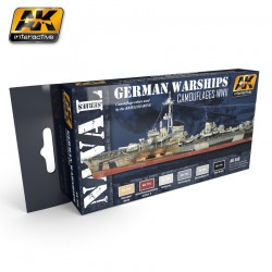 GERMAN WARSHIPS COLORS SET