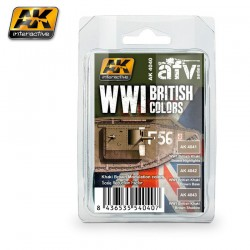 WWI BRITISH COLORS (Khaki Brown Modulation Set)